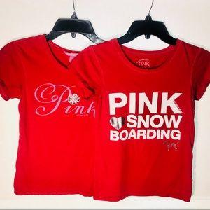 PINK 2 for 1 Victoria's Secret V-Day T-shirts